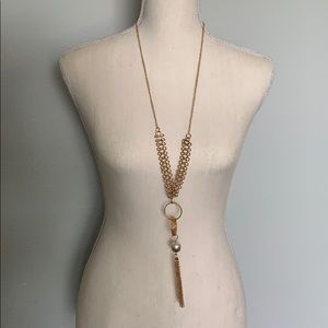 Jewelry - Gold Necklace with hanging accents